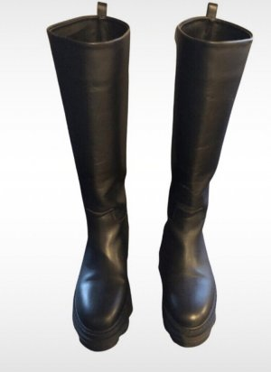 Gia Couture Firenze Jackboots black leather