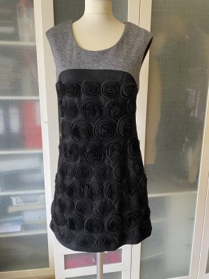 derek heart Woolen Dress black-grey