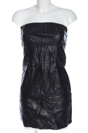 derek heart Faux Leather Dress black casual look
