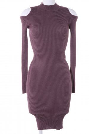 Tube Dress lilac striped pattern casual look