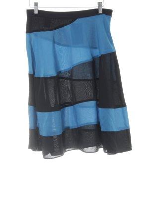 Derek Lam High Waist Rock schwarz-hellblau Elegant