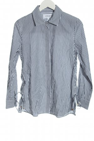 Derek Lam Long Sleeve Shirt light grey-white striped pattern business style