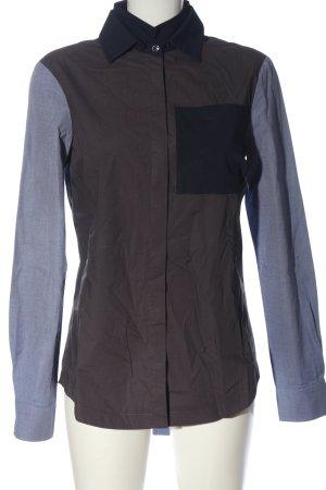 Derek Lam Long Sleeve Shirt brown-blue casual look