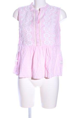 Derhy Blusentop pink-weiß Blumenmuster Casual-Look