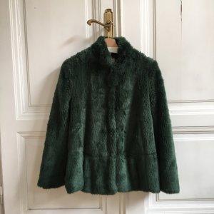 Derhy Fake Fur Jacke Faux Fur Mantel Winterjacke Wintermantel Pelzjacke Pelzmantel S