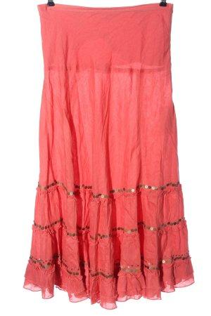 Derhy Linen Skirt pink casual look