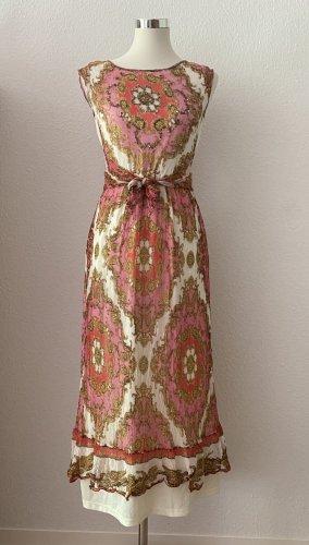 Derhy Maxi Kleid Lang Sommerkleid Strandkleid mit Paillettendetails