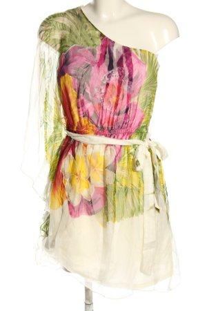 Derhy Vestido de un hombro estampado floral elegante