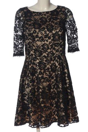 Derhy Spitzenkleid creme-schwarz Elegant