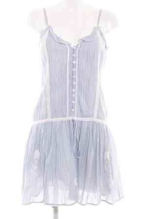Derhy Trägerkleid weiß-blau Streifenmuster Casual-Look