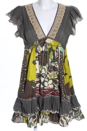 Derhy Robe à volants motif abstrait style décontracté