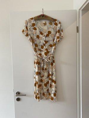 Des Petits Hauts Summer Dress cognac-coloured-cream silk