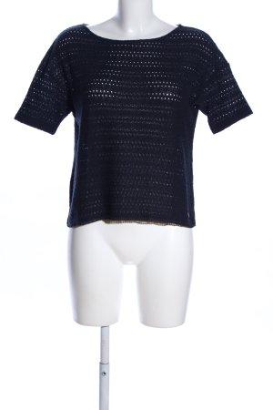 Des Petits Hauts Top en maille crochet bleu style décontracté