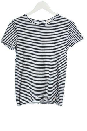 Des Petits Hauts T-shirt rayé blanc-noir motif rayé style décontracté