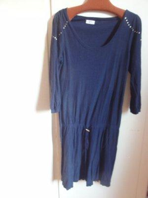Des Petits Hauts Strick-Kleid dunkelblau lässig 38 40 NP 195€