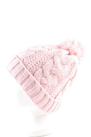 Häkelmütze pink Zopfmuster Casual-Look