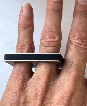 Design 925 Sterling Silber Doppelring Zwei Finger Ring echt Silber