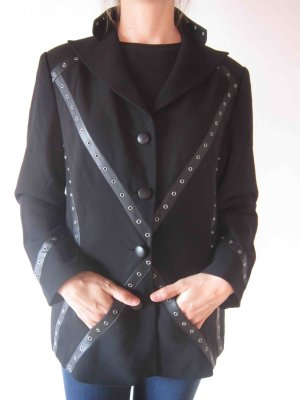 Spijkerblazer zwart Wol