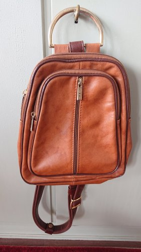 Daypack cognac-coloured leather