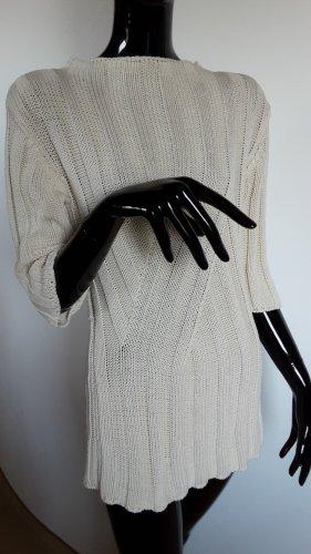 Alba Moda Pull long blanc cassé coton