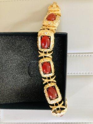 Armband goud-karmijn