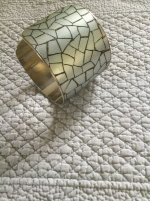 Bangle silver-colored-cognac-coloured metal