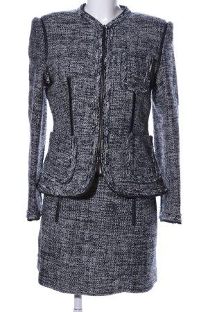 Atos Lombardini Tailleur noir-blanc laine
