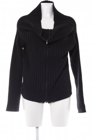 designer basics Cardigan schwarz Street-Fashion-Look