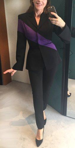Designer Blazer von Thierry Mugler Couture, passend für Gr. 36, schwarz-lila