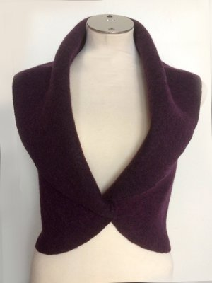 Reversible Vest brown violet wool