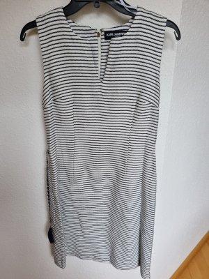 Designer Boucle Kleid mit Gürtel von Karl Lagerfeld