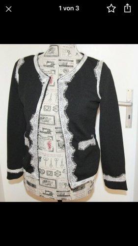 Designer Business Damen Blazer schwarz mit Spitze s/m