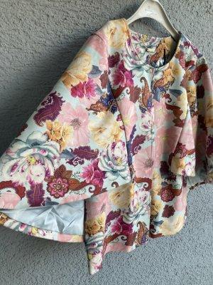 Designer Cape Jacke Poncho Weste Must Have blumig floral Alfredo