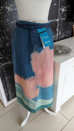 Sportmax Denim Skirt nude-light blue