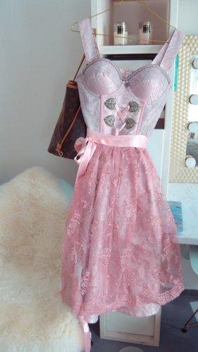 ENA trachten Robe avec jupon or rose-blanc