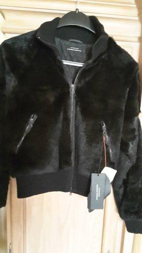 Strenesse Veste en fourrure noir