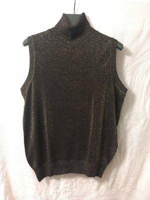 St. emile Neckholder Top black-gold-colored