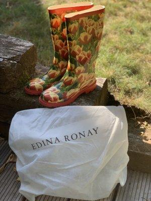 Edina Ronay Gumowe buty Wielokolorowy Tkanina z mieszanych włókien
