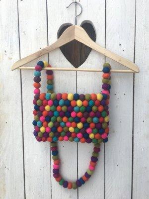 Designer Handtasche aus Filzkugeln