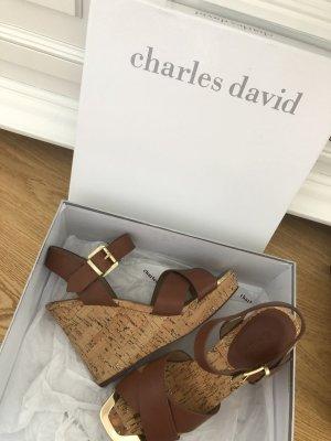 Charles David Platform Sandals multicolored
