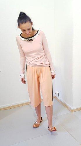 Pantalon 3/4 abricot-noir viscose