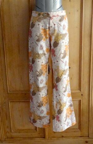 Designer-Hose mit Gallon Streifen/ Track Pants - Blumen-Print - Custo Barcelona