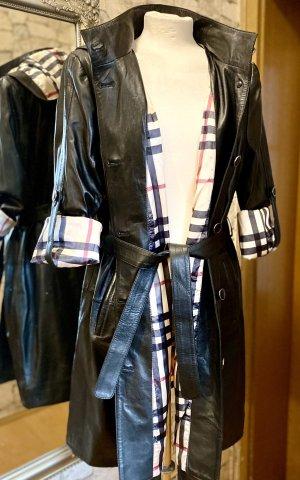Designer inspirierte Nappalederjacke im modisch angesagtem Trenchcoat Style
