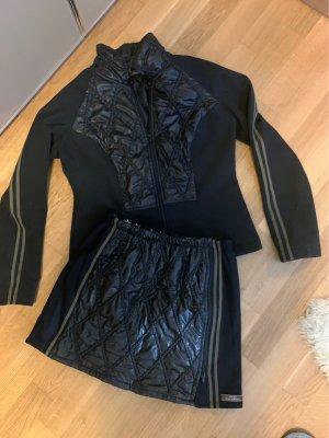 100% Fashion Chaqueta softshell negro-ocre