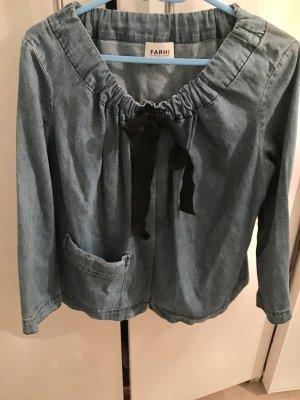 Nicole Farhi Blazer in jeans azzurro-nero Cotone