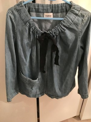 Nicole Farhi Denim Blazer azure-black cotton