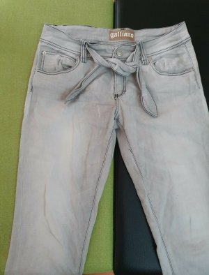 Galliano 7/8 Length Jeans multicolored cotton