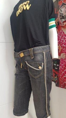 Designer jeans Phard grey goldene hardware shirt me now viskose small