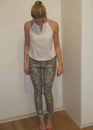 Mother Pantalone argento-crema