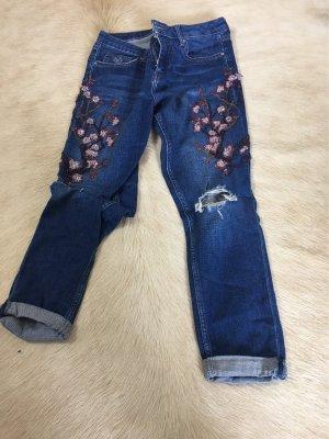 Topshop Jeans a gamba dritta blu